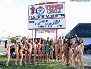 TBA bikini models contest at Winners Circle