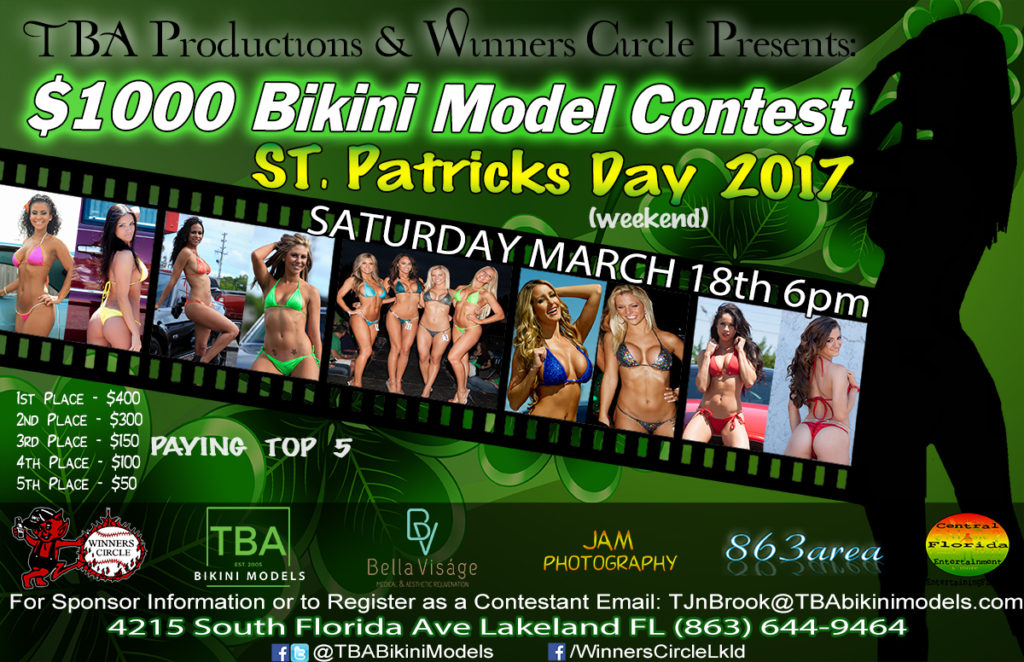 TBA Bikini Models - St. Patricks Day 2017 Bikini Contest at Winners Circle