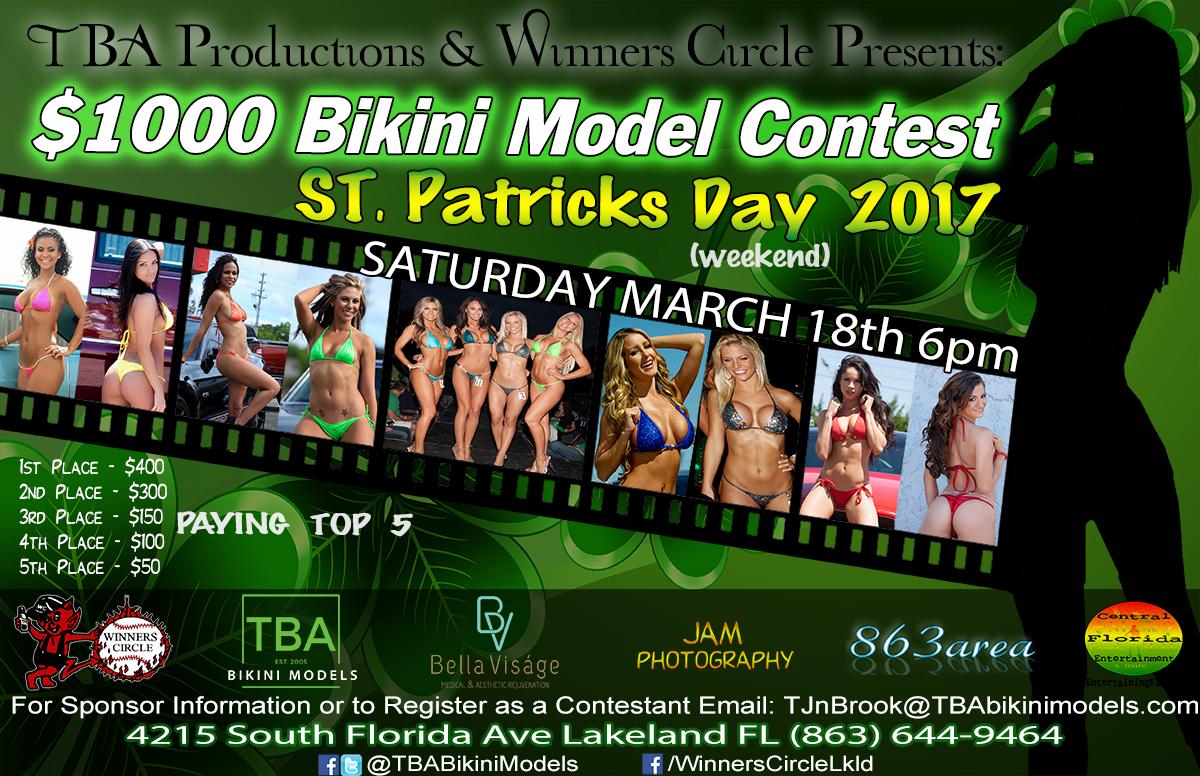 TBA Bikini Models - St. Patricks Day 2017 Bikini Contest at Winners Circle