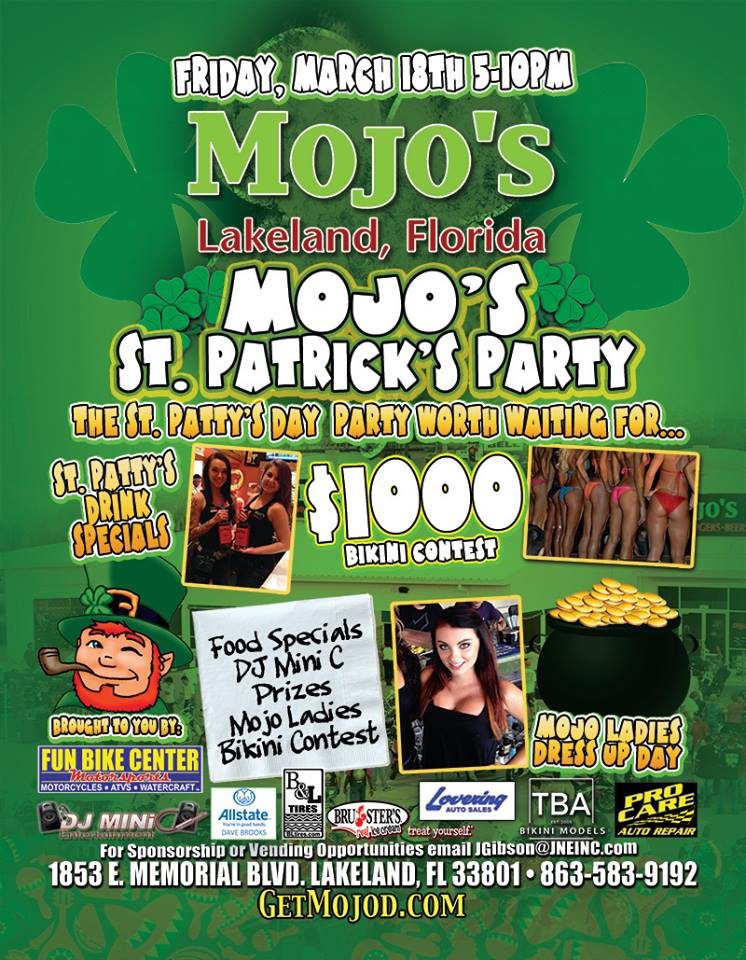 St. Patricks Weekend Bikini Contest at Mojos Lakeland
