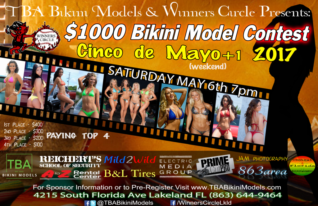 TBA Bikini Models - Cinco de Mayo 2017 - Winners Circle Lakeland